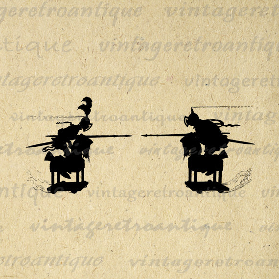 Rennaisance clipart joust Wooden Graphic No Horses Knights