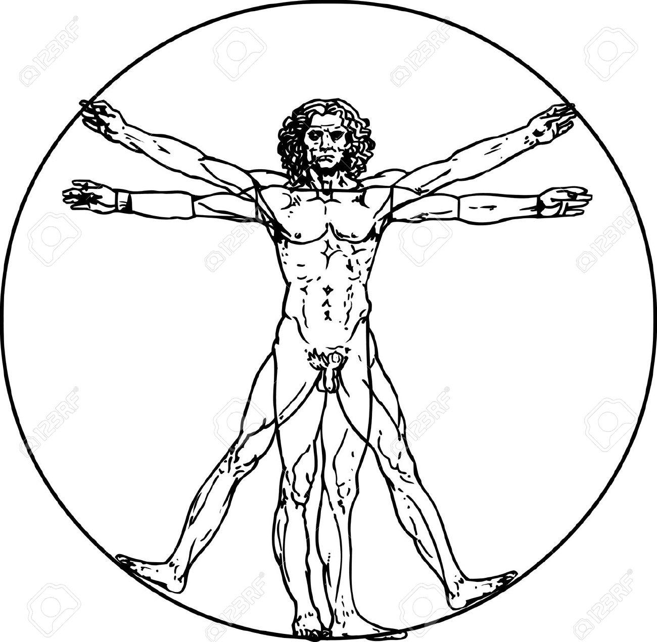 Renaissance clipart leonardo da vinci El Vitruvio hombre El Vinci