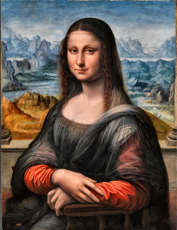 Renaissance clipart mona lisa Prado Clipart Lisa (PNG) Enhanced