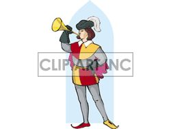 Renaissance clipart royal trumpet #3