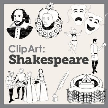 Rennaisance clipart william shakespeare #7