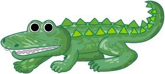 Reptile clipart alligator #11