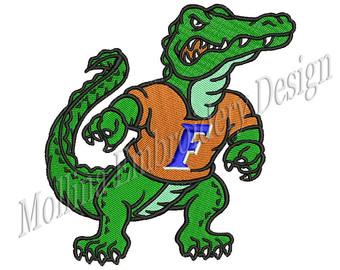 Reptile clipart florida gator Sizes Machine Design Embroidery Gators