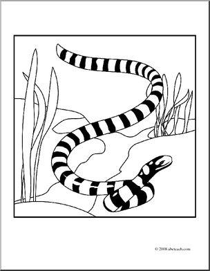 Reptile clipart sea snake #5