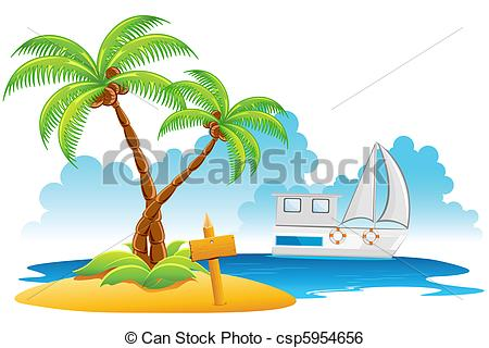 Resort clipart bahamas Vector Beach illustration Art Clip