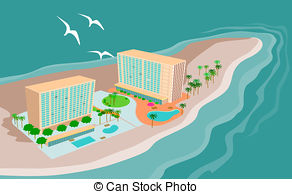 Resort clipart tropical island Island of resort and an
