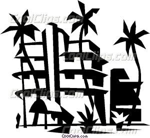 Resort clipart Resort beach beach Clip resort