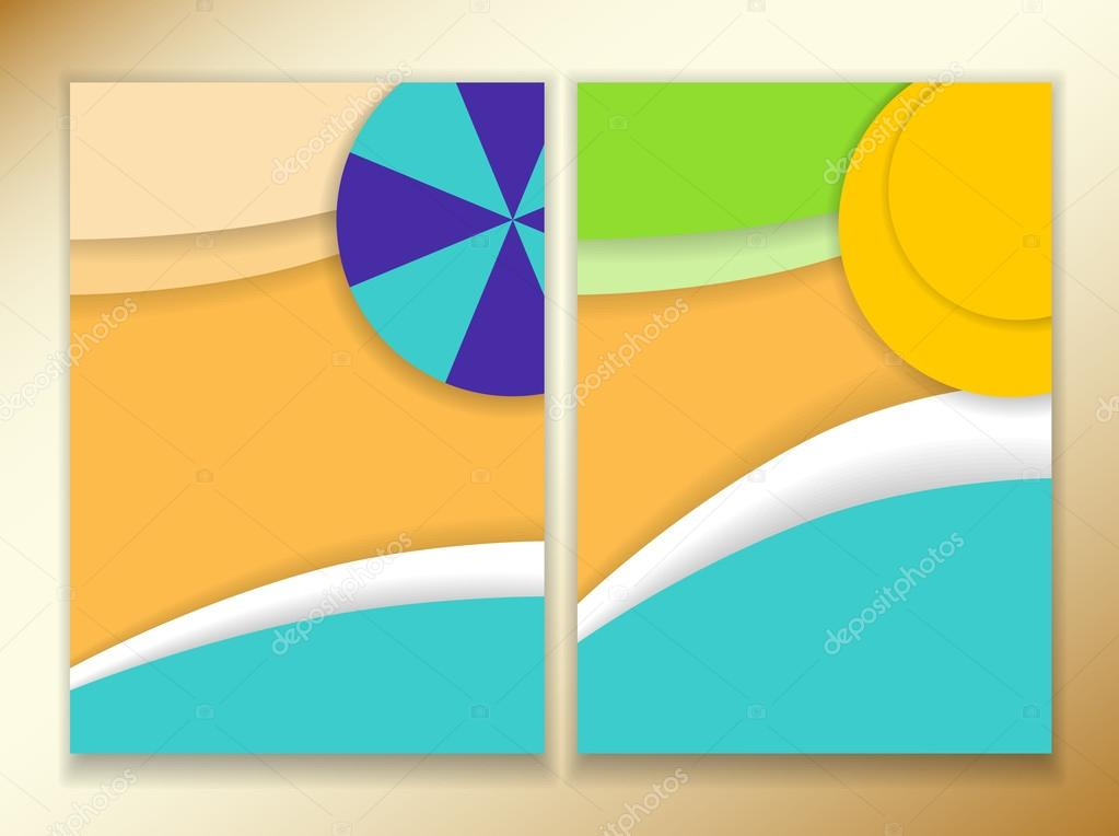 Resort clipart beach theme Front a size A4 beach