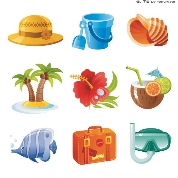 Resort clipart beach theme Vector World resort Photoshop Beach