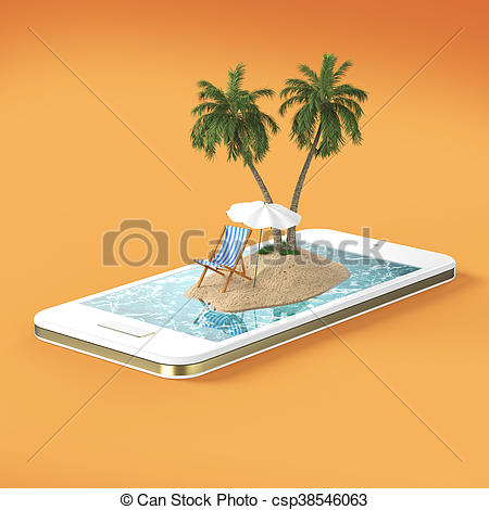 Resort clipart beach water Blue and blue island with