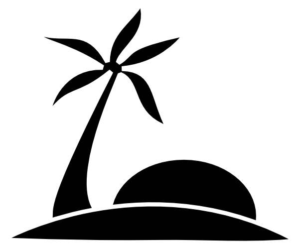 Oasis clipart black and white #15