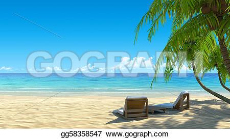 Resort clipart clean beach Art idyllic from holidays trees