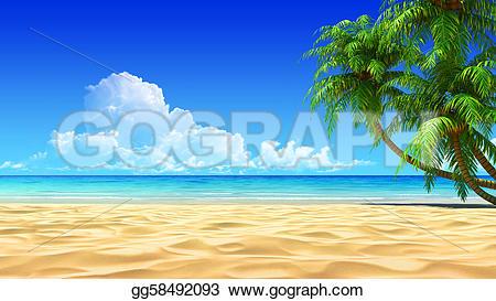 Resort clipart clean beach Illustration beach noise or detailed