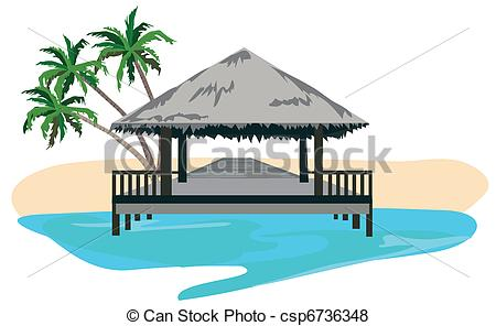 Resort clipart icon  of resort Vector csp6736348