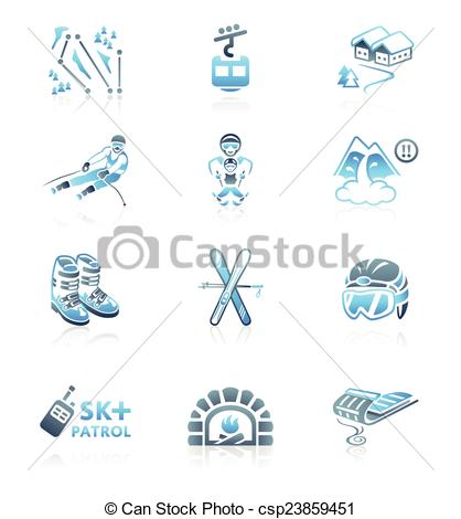 Resort clipart icon Icons serie Skiing MARINE icons
