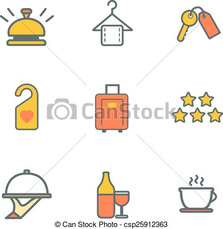 Resort clipart icon Csp25912363 resort flat luxury and