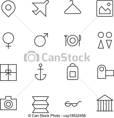 Resort clipart icon Thin Travel Vector For Icons