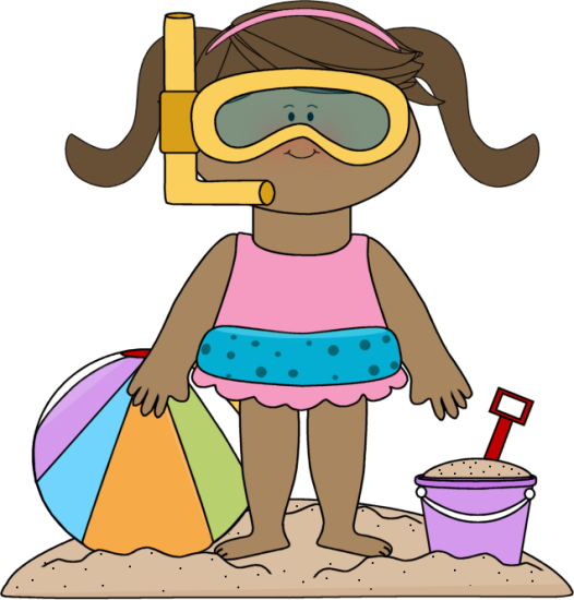 Beach clipart beach person Clip Art Cliparts Summer Resorts