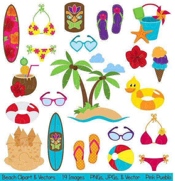 Beach clipart cute beach Vacation Beach  25+ Pinterest