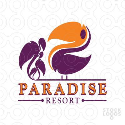 Resort clipart paradise Logo Exclusive Paradise Customizable Resort