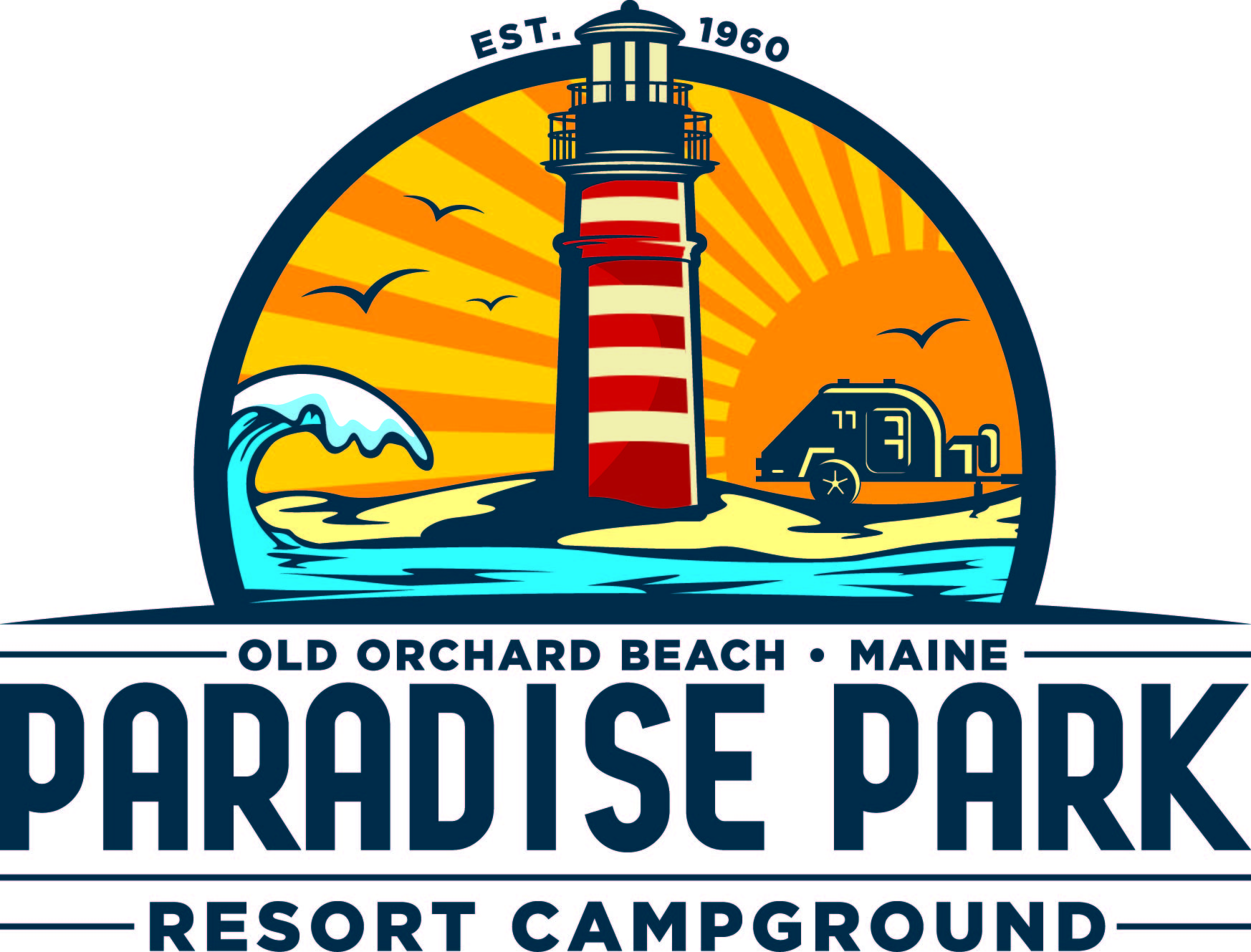 Resort clipart paradise Maine orchard Near beach Old