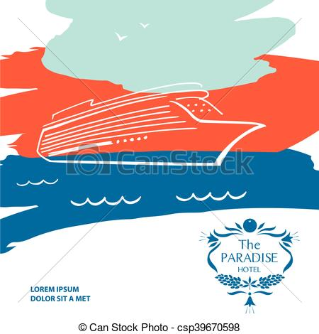 Resort clipart paradise Spa resort vector  logo