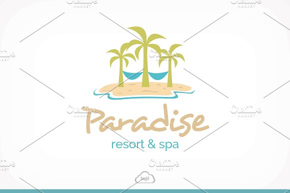 Resort clipart paradise Templates ~ Spa Logo Logo