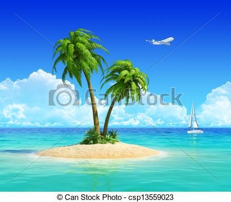 Resort clipart tropical island For holidays resort for resort