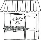 Restaurant clipart black and white Clipart Art and collection white