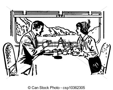 Restaurant clipart black and white A white and of and