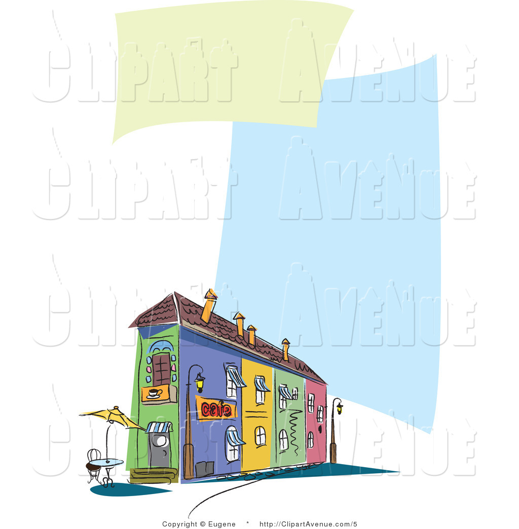 Restaurant clipart cafe building  Avenue Cafe Cafe of
