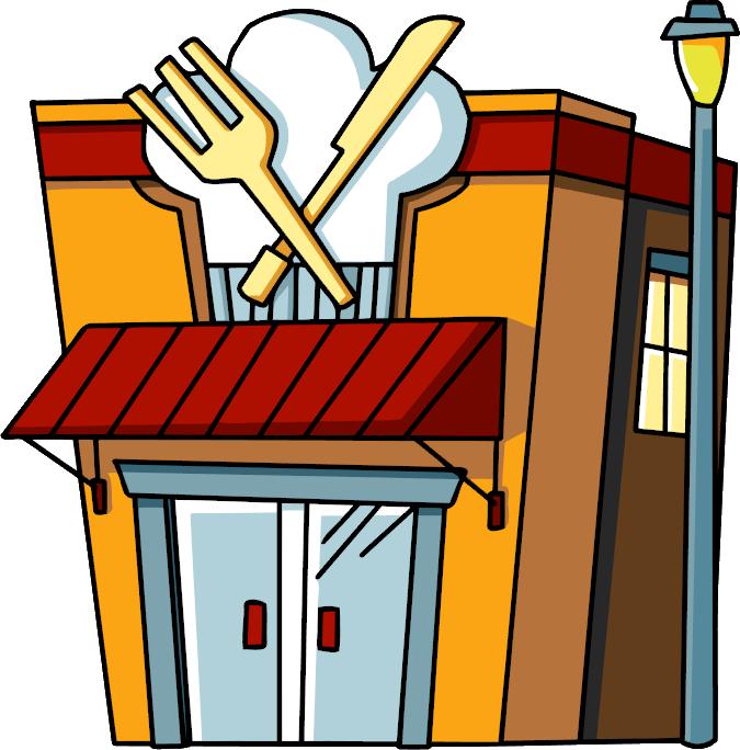 Restaurant clipart cafe building Cafe clipart  Clipart Cafe