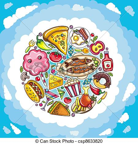 Restaurant clipart funny Food planet csp8633820 of