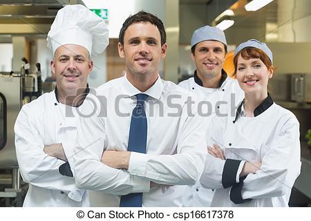 Restaurant clipart manager a  chefs of Restaurant standing