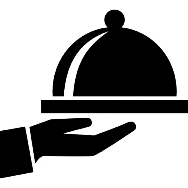 Covered clipart food dish Icon hand service Icons Free