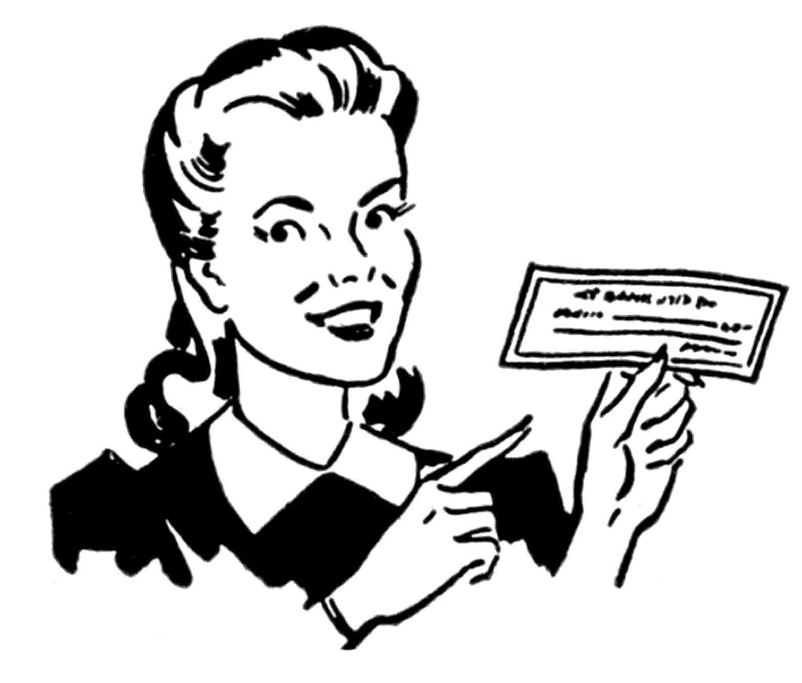 Retro clipart The Women Retro – Money