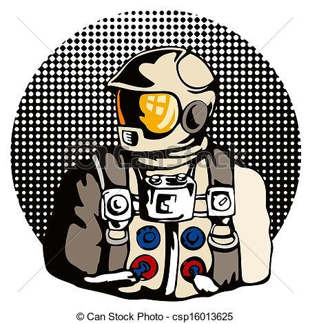 Retro clipart astronaut #7
