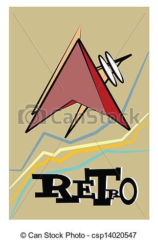 Retro clipart atomic #14
