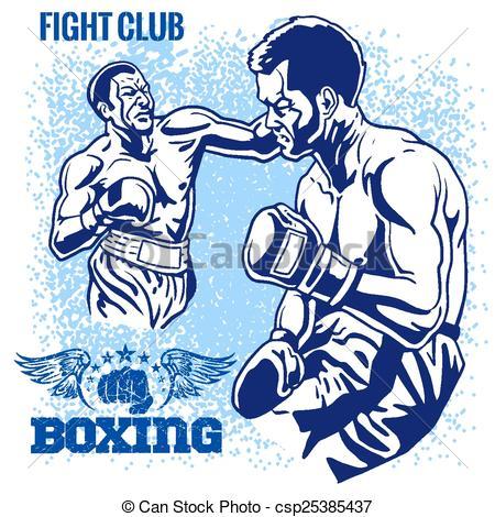 Retro clipart boxer #3