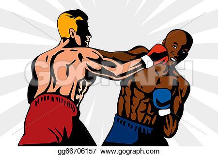 Retro clipart boxer #7