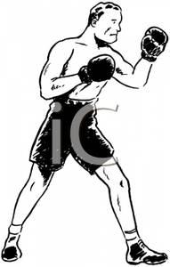 Retro clipart boxer #5