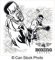 Retro clipart boxer #8