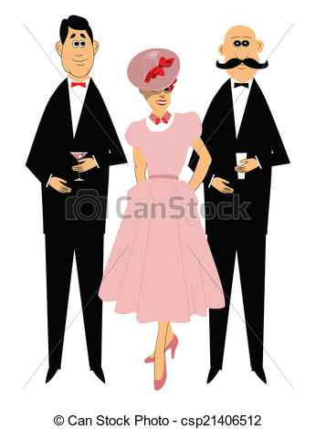 Retro clipart dinner party #8