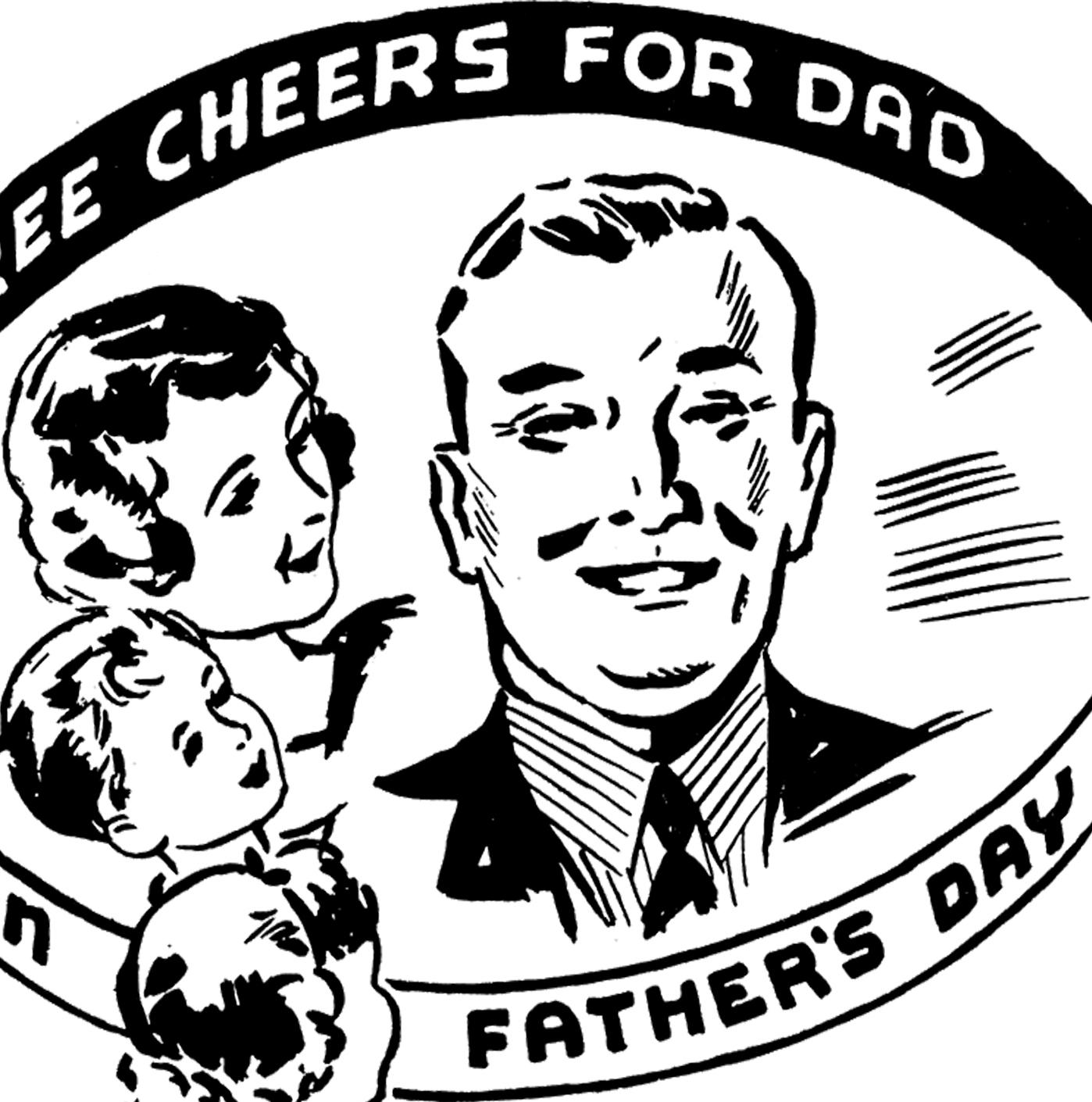Retro clipart fathers day #5