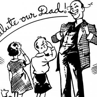 Retro clipart fathers day #2