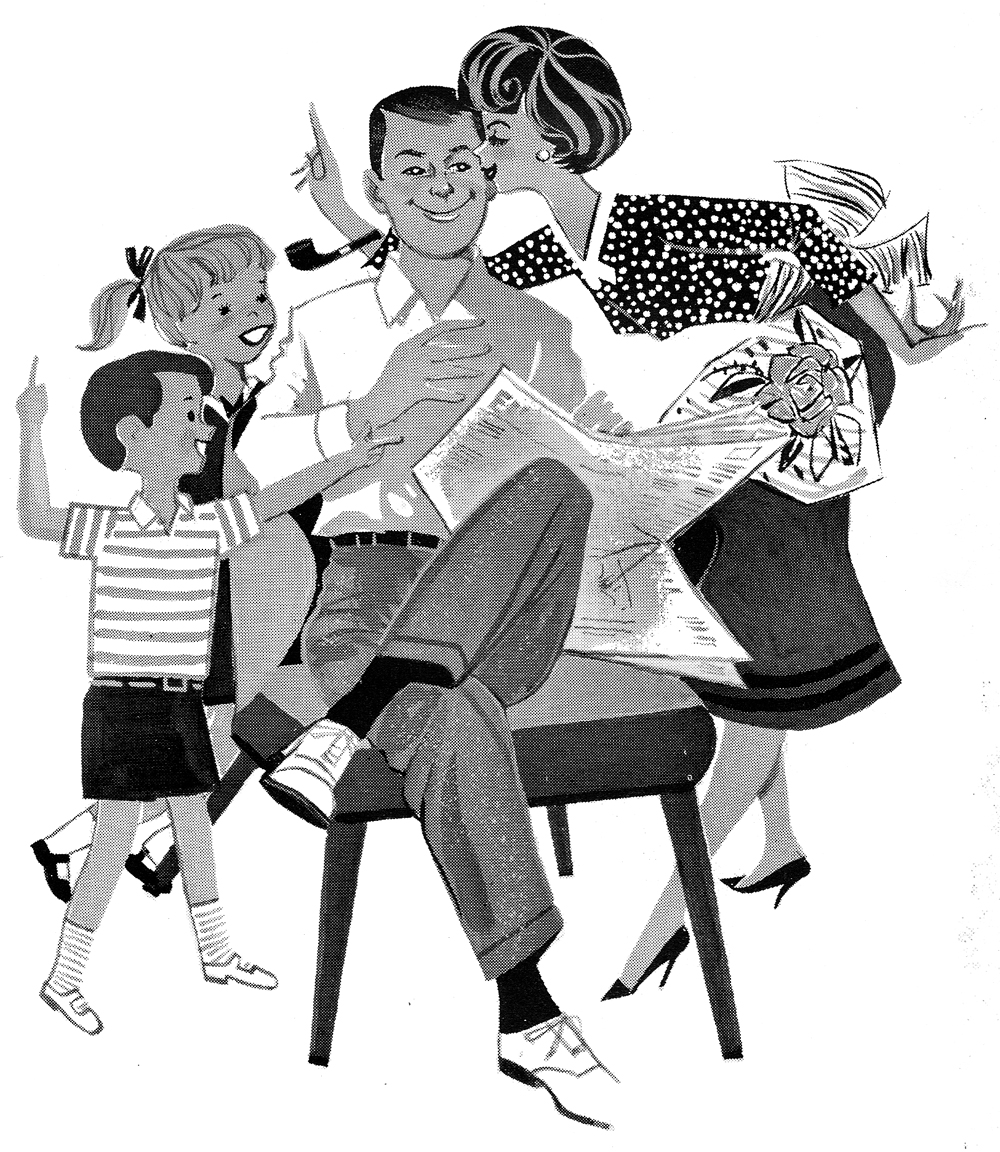 Retro clipart fathers day #3