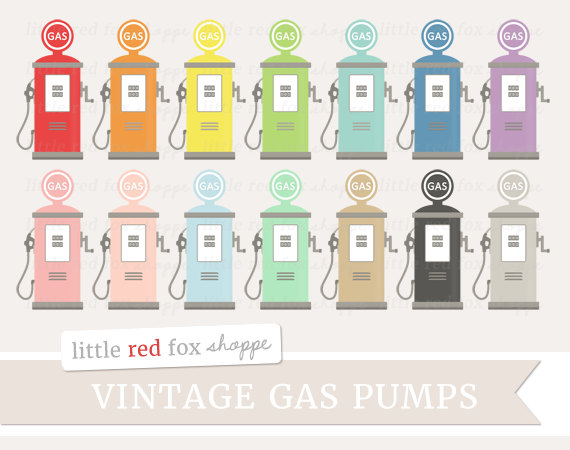 Retro clipart gas pump #14
