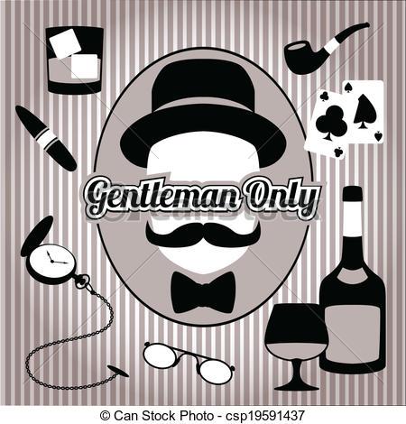 Retro clipart gentleman #8