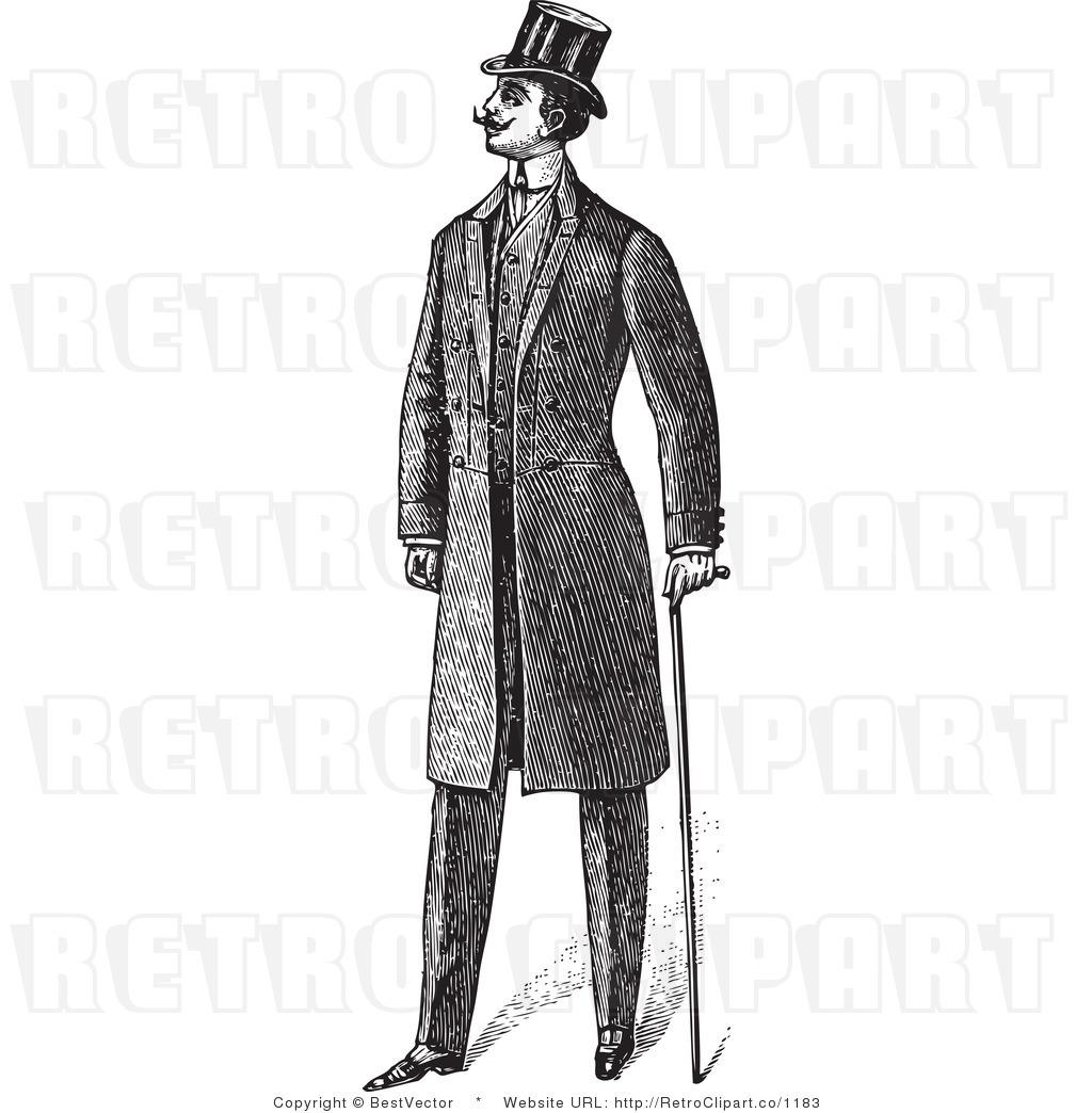 Retro clipart gentleman #7