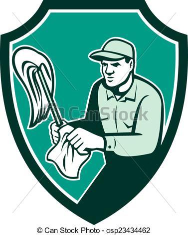 Retro clipart janitor #2